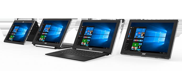 Nova série da Acer conta com dois novos modelos de híbridos (Foto: Divulgação/Acer)