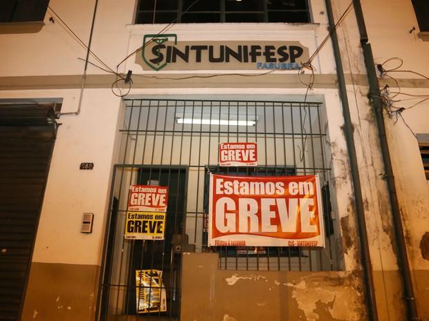 Hospital São Paulo em greve (Foto: Edison Temoteo/Futura Press/Estadão Conteúdo)