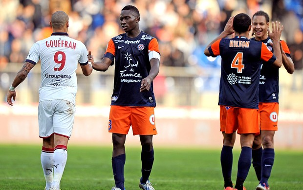 Montpellier comemora vitória sobre o Bordeaux (Foto: AFP)