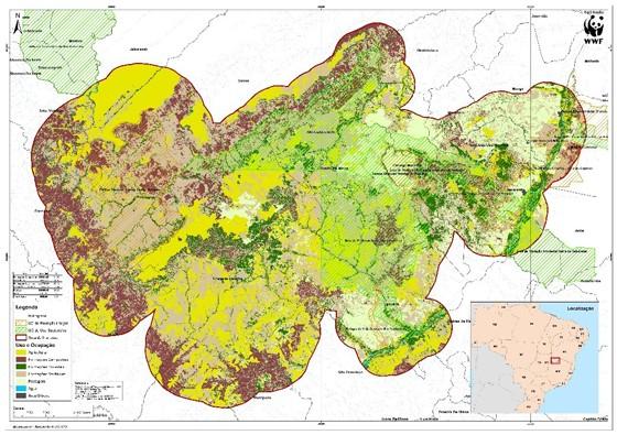 Mapa do desmatamento do Mosaico Sertão Veredas Peruaçu (Foto: Reprodução)