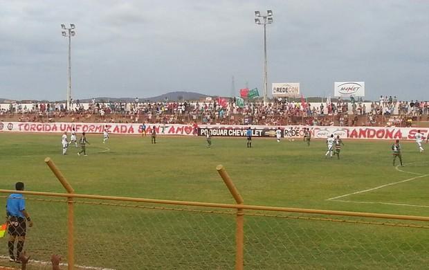 Santa Cruz-RN x Alecrim, no Estádio Iberezão, em Santa Cruz (Foto: Divulgação/Santa Cruz-RN)