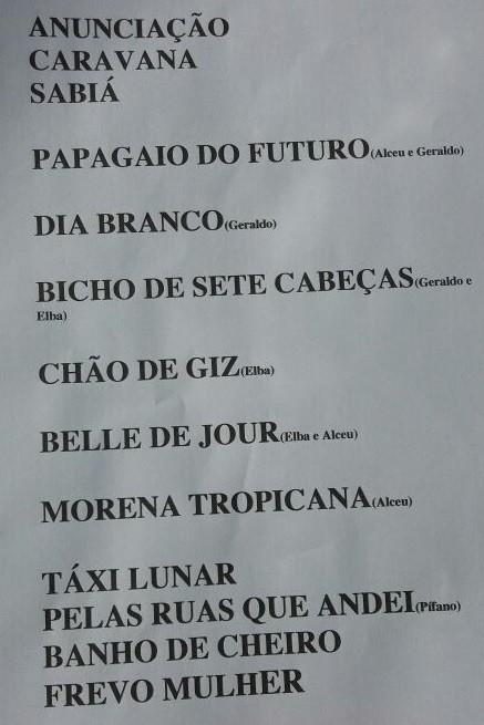 Setlist do terceiro show do Palco Sunset, marcado para s 18h (Foto: Reproduo)