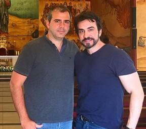 Rodrigo Alvarez com Padre Fábio de Melo na Jordânia (Foto: Reprodução/Instagram)