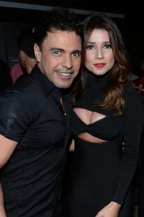 Zezé Di Camargo e Paula Fernandes em show em Itatiba, interior de São Paulo (Foto: Francisco Cepeda/ Ag. News)