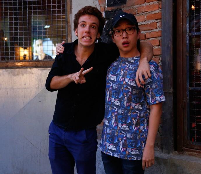 Parceiros de cenas, Joâo Côrtes e Paulo Chun (Foto: Raphael Dias / Gshow)