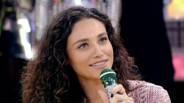 Débora Nascimento participa do Esquenta  (Foto: Reprodução / TV Diário)