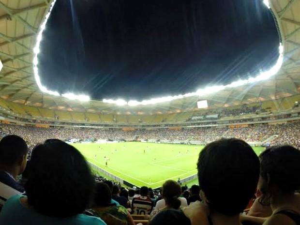 20 mil torcedores lotaram o estádio de Manaus para a Copa (Foto: Marina Souza/G1 AM)