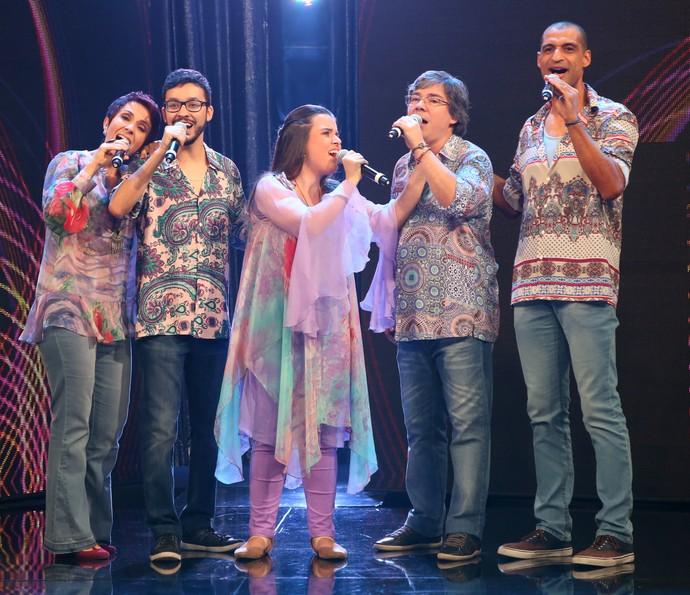 Vocal5 canta sucesso de Flávio Venturini no A Cappella (Foto: Carol Caminha/Gshow)