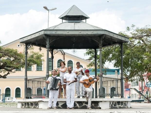 Grupo Patuscada estreia projeto no coreto do Santo Antônio Além do Carmo (Foto: Natalia Arjones/Divulgação)