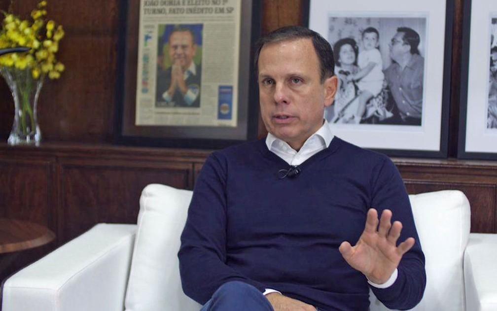 Prefeito João Doria diz que próximo presidente deve ser um 'gestor' e minimiza ascensão de Jair Bolsonaro  (Foto: Felipe Souza/BBC Brasil)
