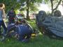 Carro capota na Rótula das Cuias e deixa dois feridos em Porto Alegre