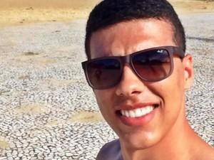 Cadu é suspeito de ter assassinado o estudante Mateus Pinheiro de Morais, em Goiânia, Goiás (Foto: Reprodução/ TV Anhanguera)