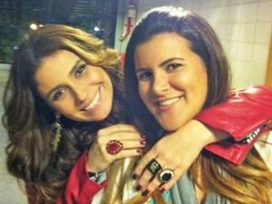 Giovanna Antonelli e Priscilla Schiavinato posam juntas para foto (Foto: Priscilla Schiavinato/Arquivo Pessoal)