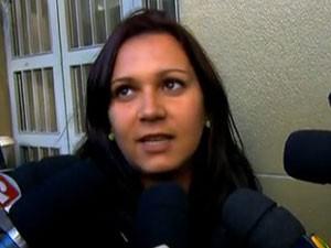 Eliete Prestes, que esteve no DHPP na terça-feira (5) (Foto: Reprodução/TV Globo)