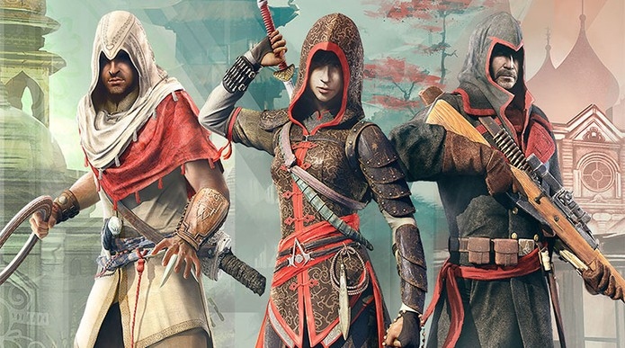 A trilogia Assassins Creed Chronicles no PS Vita (Foto: Divulgação/Ubisoft)
