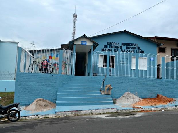 Escola Maria de Nazaré Lima  (Foto: Adelcimar Carvalho/G1)