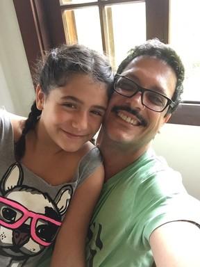 Lúcio Mauro Filho com a filha, Luiza (Foto: Arquivo pessoal)