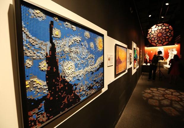 Quadro 'A Noite Estrelada', da Van Gogh, feita com pecinhas de Lego (Foto: Getty Images)