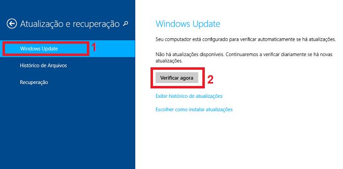 Iniciando a verificação de atualizações do Windows Update (Foto: Reprodução/Edivaldo Brito)