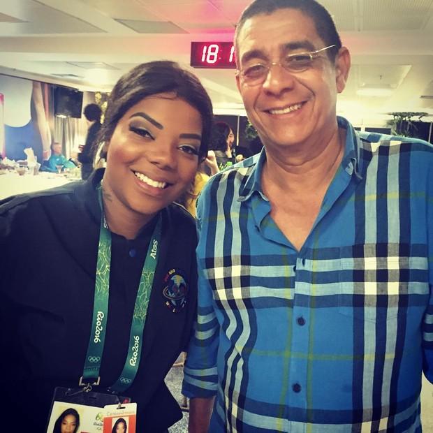 Zeca Pagodinho e Ludmilla (Foto: Reprodução / Instagram)