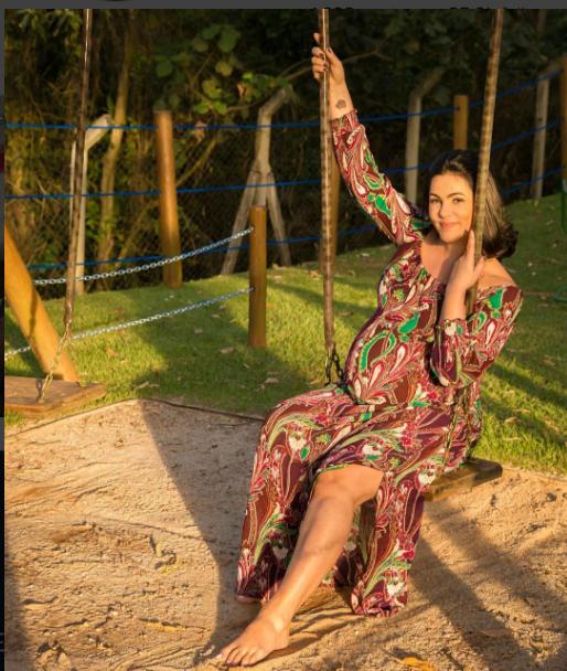 Suzana aos 9 meses de gestação (Foto: Reprodução/Instagram)