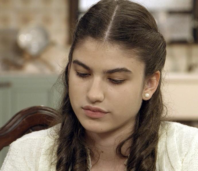 Gerusa confessa a Pancrácio que está cansada de ter esperanças (Foto: TV Globo)