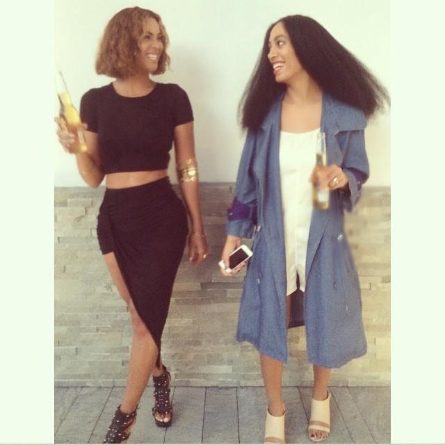 Beyoncé e Solange Knowles (Foto: Reprodução/Instagram)