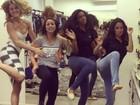 Barbara França, Laryssa Ayres, Aline Dias e Amanda de Godoi dançam funk