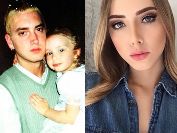 Eminem com a filha, Hailie (Foto: Instagram/Reprodução)