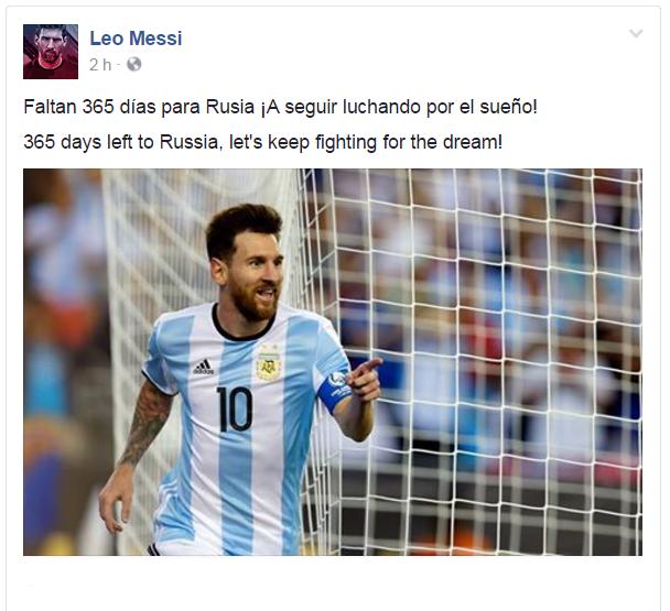 """BLOG: Messi faz contagem regressiva para Copa: """"Seguir lutando pelo sonho"""""""