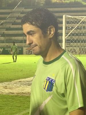 Atacante Vanderlei, do Nacional-MG (Foto: Gullit Pacielle)