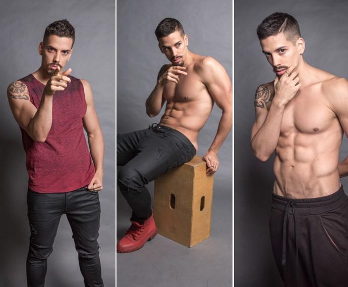 Felipe de Carolis diz que ganha músculo fácil. Percebe-se, né?! (Foto: Beto Roma/ TV Globo)