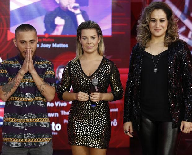 Joey Mattos, Paula Marchesini e Fernada Souza na Sala de interatividade (Foto: Fábio Rocha/Gshow)