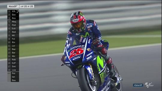 Estreando na Yamaha, Viñales vence a prova inaugural da MotoGP no Catar
