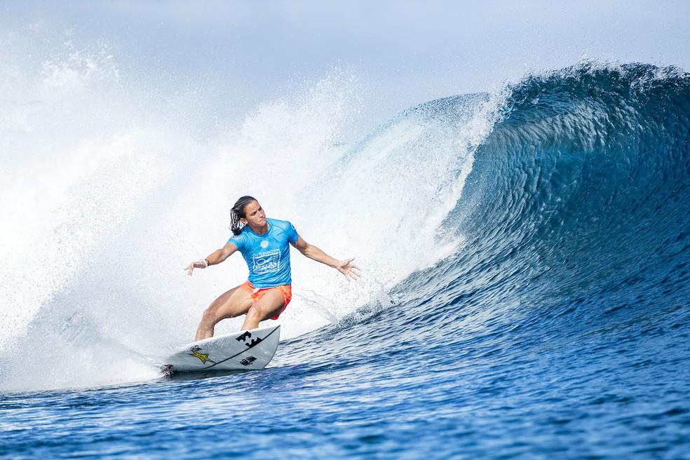 Courtney Conlogue está na final da etapa de Fiji (Foto: WSL)