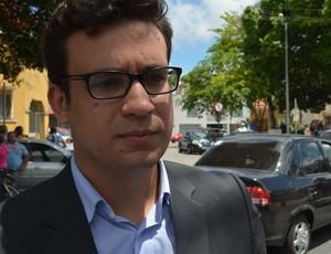 Thiago Fonseca, advogado de Coriolano Coutinho (Foto: Phelipe Caldas / GloboEsporte.com/pb)