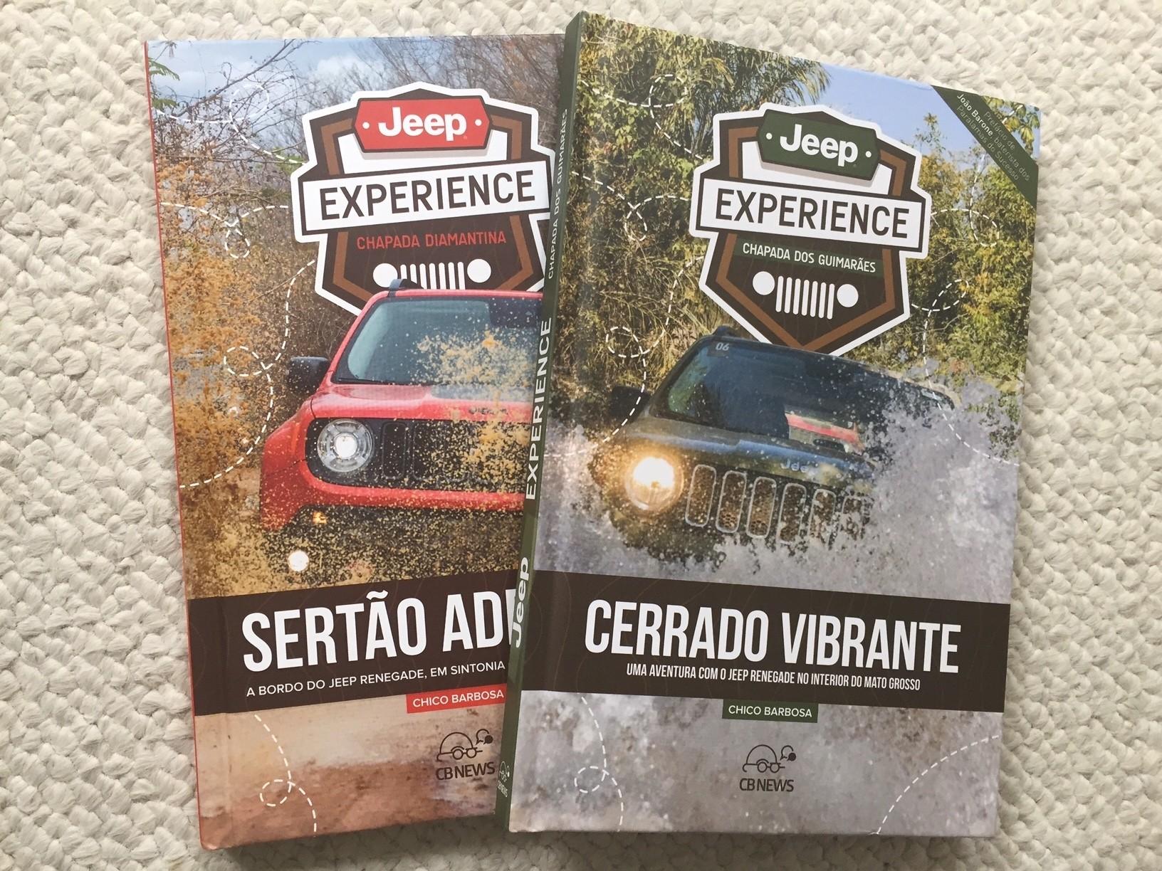 Livros-reportagem sobre a Jeep Experience Brasil (Foto: Chico Barbosa)