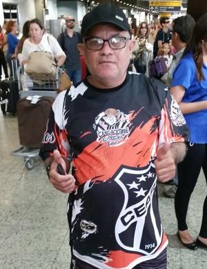 Wellington se revelou ser torcedor do Ceará e não dos resultados conquistados pela equipe (Foto: Tom Alexandrino)
