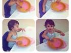 Mãe coruja, Fernanda Pontes baba pela filha em aula de artes