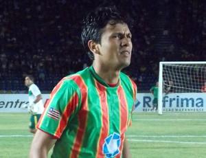 Eloir marcou o único gol do jogo (Foto: Bruno Alves)