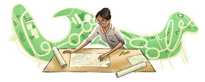 Doodle do Google celebra vida de Lota, arquiteta e urbanista (Reprodução/Google)