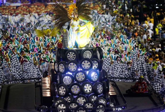 Carnaval - Sapucaí - Desfile Unidos da Tijuca - Senna (Foto: Reuters)