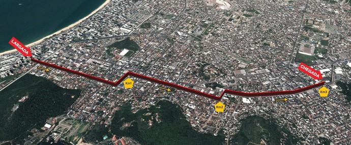 Percurso Garotada: Corrida de 3km (Foto: Reprodução/Site Oficial da Dez Milhas Garoto)
