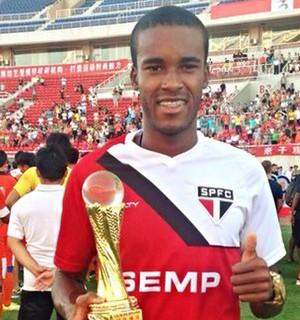 Joanderson, atacante do São Paulo (Foto: Divulgação / Site oficial SPFC)