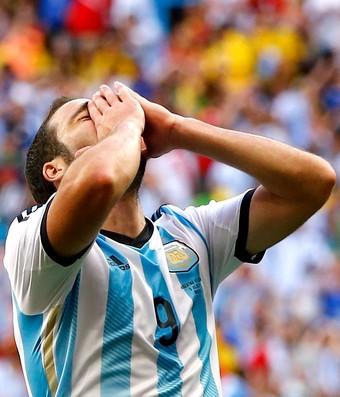 Higuain - argentina x bélgica (Foto: Reuters)
