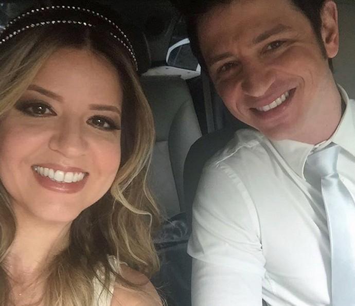 Mariana Santos no dia do seu casamento com Rodrigo Velloni (Foto: Arquivo Pessoal)