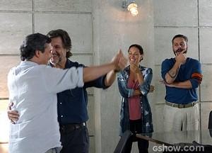 Tereza e Hermes se divertem humilhando LC e Líder Jorge (Foto: Além do Horizonte/TV Globo)