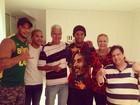 Kléber Bambam tieta Ronaldinho Gaúcho em jantar, no Rio