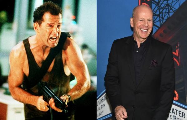 Bruce Willis estrelou 'Duro de Matar' aos 33 anos, hoje tem 60 (Foto: Getty Images/Divulgação)