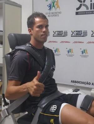 Marcelo Lomba, goleiro da Ponte Preta (Foto: Thiago Toledo/ PontePress)